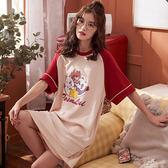俏皮圖案棉T洋裝 居家服-中大尺碼 獨具衣格