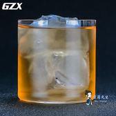 酒杯 無鉛水晶輕薄無底威士忌杯古典雞尾酒杯冰球酒杯