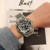 特惠男士手錶青少年手錶男女中學生韓版簡約時尚計時鬧鐘運動防水情侶電子錶
