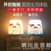 遙控小夜燈LED 插電臥室床頭節能嬰兒喂奶迷你 夜光夢幻智慧燈晴川 館