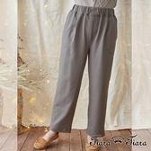 【Tiara Tiara】漢神秋冬 簡約單色鬆緊腰長褲(藏青/灰)
