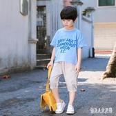 男童短袖T恤圓圓2019新款休閒中小童圓領上衣兒童夏季童裝 FR9999『俏美人大尺碼』