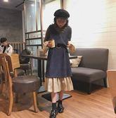 兩件套洋裝新款套裝晚晚風冬裙兩件套洋氣洋裝女氣質學生港味網紅寬鬆 街頭布衣