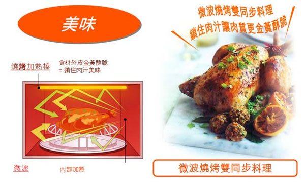 ★微波燒烤同時料理◤國際牌23L全新變頻微波/燒烤微波爐 NN-GD37H◢