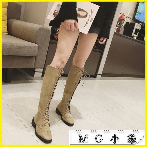 MG 膝上靴-馬丁靴英倫風過膝靴長筒靴高筒靴