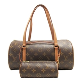 LOUIS VUITTON LV 路易威登 原花手提肩背子母圓筒包 Papillon 30 M51385【BRAND OFF】