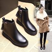 馬丁靴女鞋子2020新款百搭冬季加絨韓版內增高靴子英倫風平底短靴