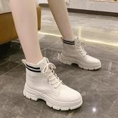 短靴 馬丁靴女春夏秋季薄款英倫風透氣潮ins厚底酷2020年新款百搭短靴 零度3C