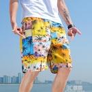 短褲男2021年夏季潮流寬鬆五分運動沙灘褲大褲衩外穿薄款休閒褲 3C優購