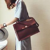 新款時尚公文包複古簡約百搭女包單肩斜挎包