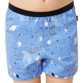 SOLIS-熊麻吉系列120-150印花四角男童褲(小藍莓)