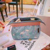 化妝包 韓國小清新復古花朵女士日繫便攜旅游收納包化妝包洗漱包『優尚良品』