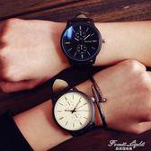 情侶手錶時尚休閒大錶盤運動個性超薄情侶石英錶 果果輕時尚igo