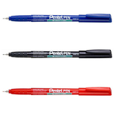 【PENTEL 】NMF50紅 極細環保油性筆0.5mm  (12支)