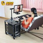 歐式置地用懸掛式床邊臺式電腦桌無縫床邊家用桌可調節旋轉