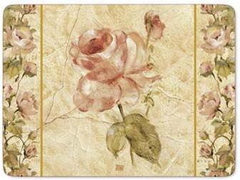 英國進口四入餐墊-古董織物玫瑰 Antique Rose Linen