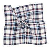 Calvin Klein 交錯格紋純綿帕巾(藍白色)989091-262