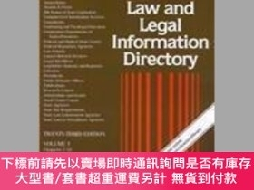 二手書博民逛書店Law罕見And Legal Information Directory 3 Volume SetY25517