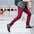 ∥柒零年代∥City Modern【N7903J】韓系英倫品味線條感黑色皮革口袋裝飾硬挺休閒窄管褲(Gar8302)