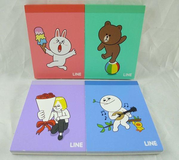 【震撼精品百貨】LINE FRIENDS 兔兔、熊大、饅頭人、詹姆士~小便條 『共4款』