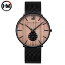 Hannah Martin 漢娜馬丁 木紋質感設計款式錶 (HM-1002櫻桃木色)-個性潮范 展現本性