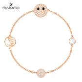 施華洛世奇 Remix Collection Smiling Face 閃亮光環鍍玫瑰金色飾鏈