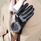 手套冬天女士皮手套觸屏戶外騎車開車加絨厚防寒防水保暖棉秋季 快速出貨