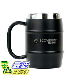 EcoVessel DOUBLE BARREL雙層絕緣不銹鋼啤酒和咖啡杯 [美國代購]