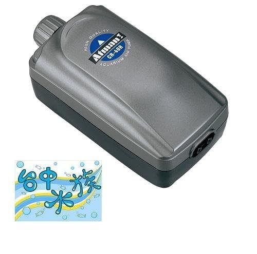 ATMAN 雙孔微調強力打氣馬達CR-40R+氣泡石  特價