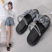 一鞋兩穿百搭夏韓版學生平底仙女的溫柔風復古涼鞋女 奇思妙想屋