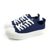 KANGOL 休閒鞋 餅乾鞋 帆布 女鞋 深藍色 厚底 6952200180 no030