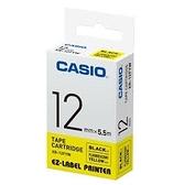 CASIO 標籤機專用螢光色色帶-12mm【螢光黃底黑字XR-12FYW】