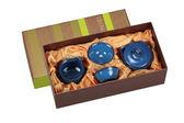 宜龍 瓷器茶器 藍翠玉(壺+海+2杯)4入禮盒