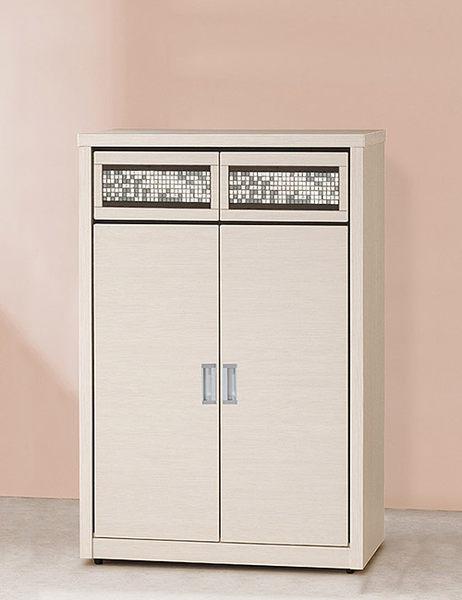 [ 家事達] OA-917-4 E009馬賽克白雪杉3×4尺鞋櫃 已組裝 限送台中市/苗栗/彰化/南投縣市