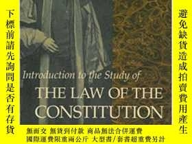 二手書博民逛書店Introduction罕見To The Study Of The Law Of The Constitution