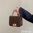 錬條包 小眾設計包女斜背包包2021新款潮復古小方包百搭ins手提鍊條包 智慧 618狂歡