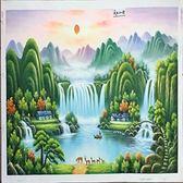 【風水油畫】山水聚寶盆3 純手繪油畫(不連框)-含運價