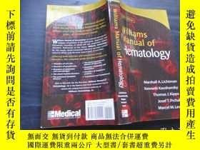 二手書博民逛書店Williams罕見Manual of Hematology,