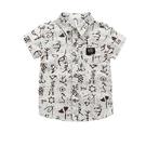 男童襯衫面料柔軟不掉色夏裝新款男童短袖襯衫韓版卡通0-6歲兒童襯衣 快速出貨