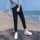 找到自己品牌 時尚潮流 男 百搭簡約款 牛仔褲 九分褲 直筒褲 黑色 深藍色