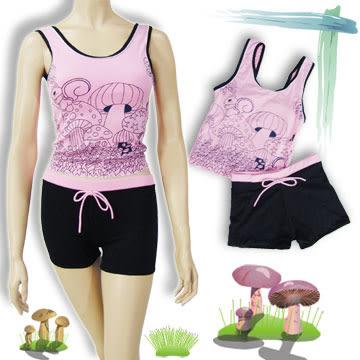 兒童2二兩件式連身兒童泳衣│綺麗童話兒童泳衣泳衣泳褲泳帽女孩褲裙運動游泳衣