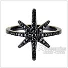 apm MONACO METEORITES NOIRES系列黑晶鑽鑲飾流星設計純銀戒指(黑)