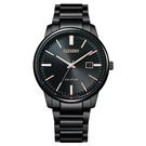 【台南 時代鐘錶 CITIZEN】星辰 光動能 PAIR 對錶 日期 光動能 鋼錶帶男錶 BM7527-89E 黑 39mm