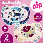 親乳奶嘴~德國矽膠拇指型安撫奶嘴5 18 個月2 入蝴蝶魚NIP G 31302 4