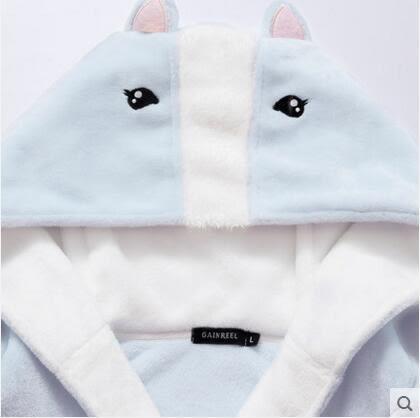 熊孩子ஐ冬天法蘭絨甜美卡通連帽家居服睡衣可愛少女睡袍浴袍櫻欄