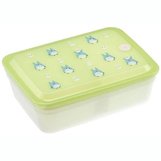 小禮堂 龍貓 方形微波保鮮盒 抗菌保鮮盒 便當盒 850ml Ag+ (綠 藍龍貓) 4973307-52534