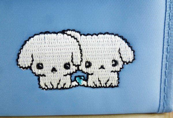 【震撼精品百貨】BuruBuru_抖抖狗~方皮夾-藍色