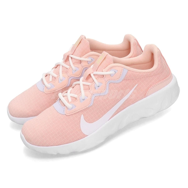 Nike 慢跑鞋 Wmns Explore Strada 粉紅 白 避震中底 女鞋 運動鞋【ACS】 CD7091-600