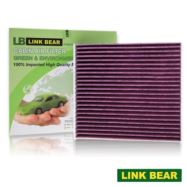 【LINK BEAR】汽車空調 專業級 三層冷氣靜電濾網 (紫款) 適用 TOYOTA 19年前車系