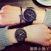 手錶帆布簡約彩帶男休閒時尚流時裝錶百搭復古情侶錶 蘿莉小腳丫